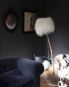 Wooden lamp fur