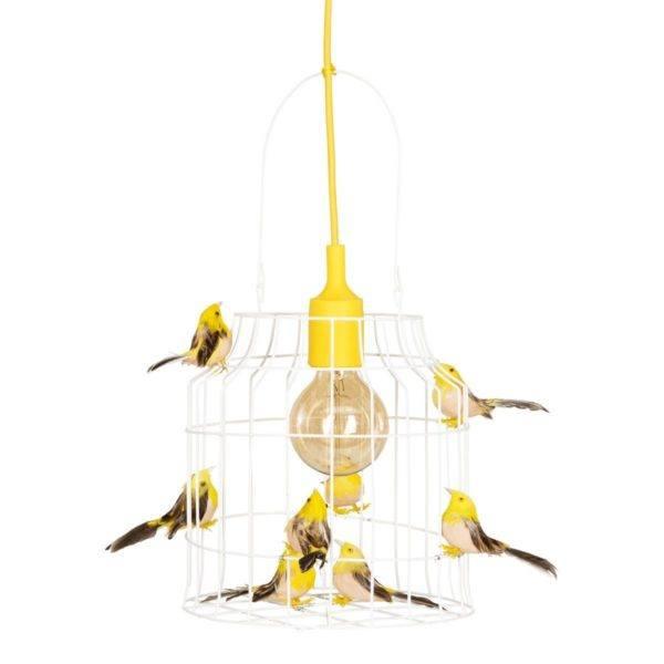 birds hanging lamp yellow