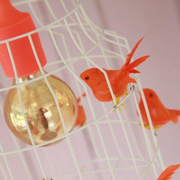 birds hanging lamp orange birds
