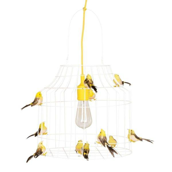 pendant light birds yellow