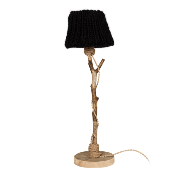 wooden table light black