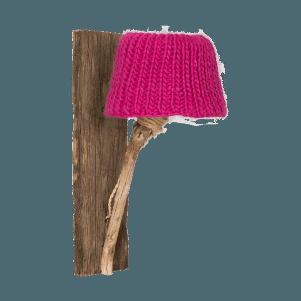 wooden wall light