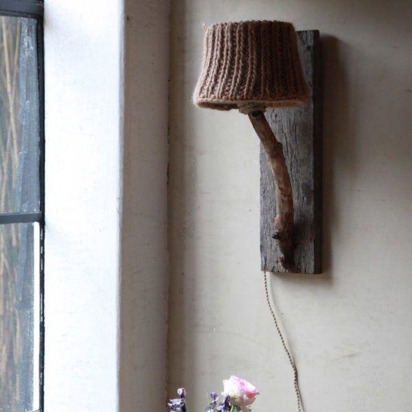 wooden wall lamp oak wagon