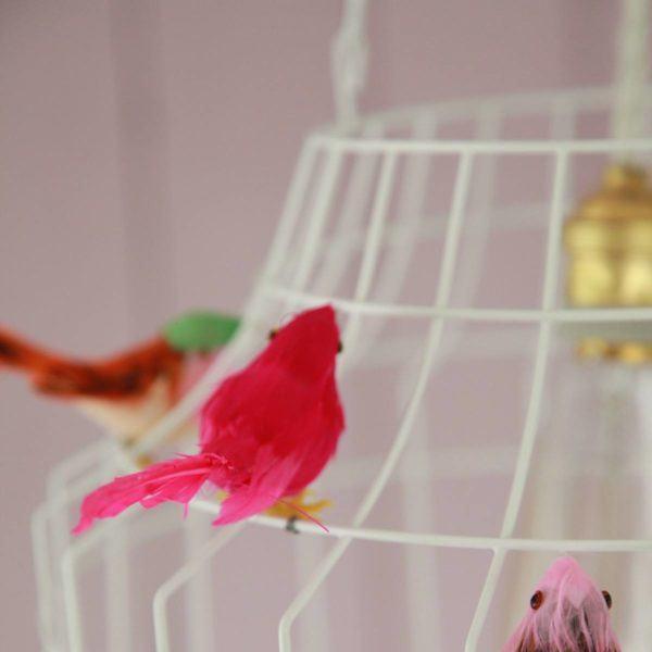 birds lamp white  babyroom