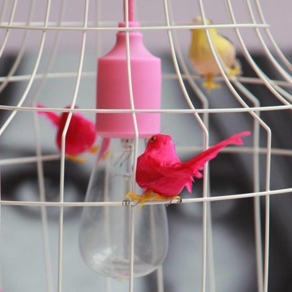 pendant light fuchsia girlsroom birds