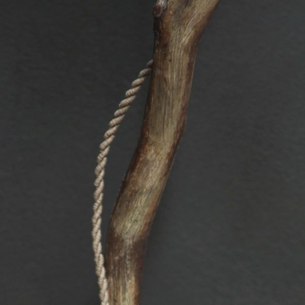 wooden leg table lamp