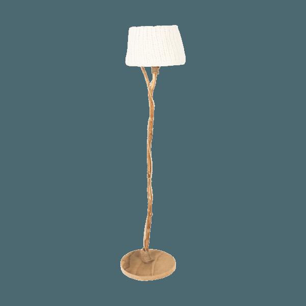 wooden floor lamp white