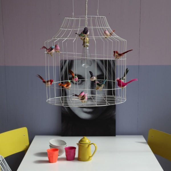 birds pendant light dining table